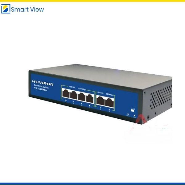 Switch POE 4 cổng Huviron F-SP3-4F2F-BL