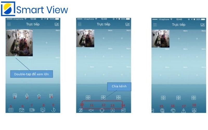 xem trực tiếp màng hình phần mềm Kbview lite