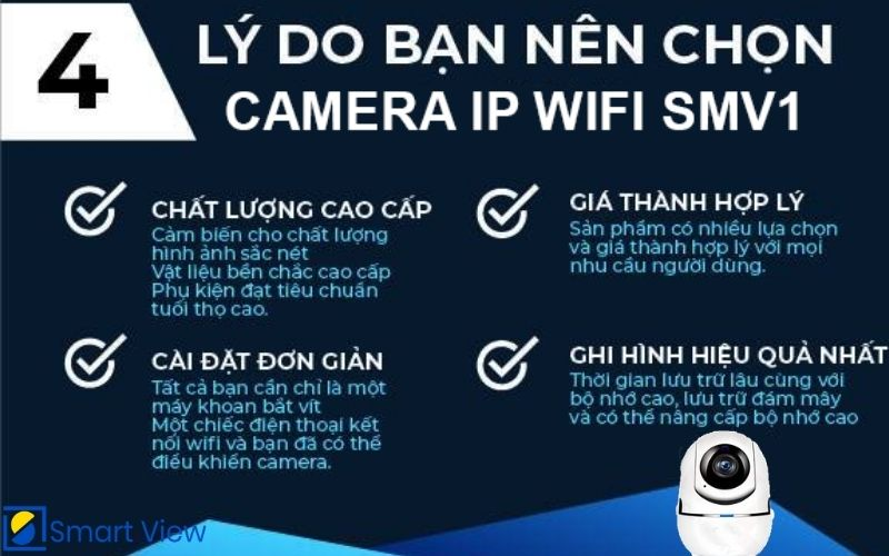 Camera IP Wifi SMV 1